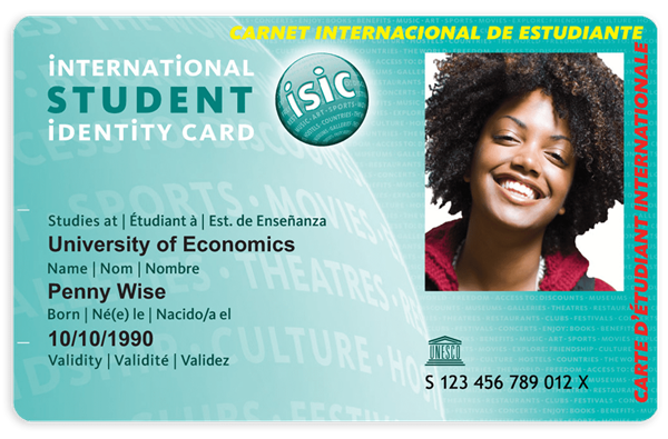ISIC Student Identity / Discount Card