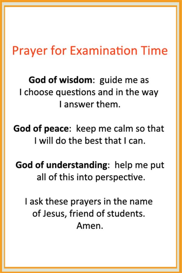 Prayer for Examination Time