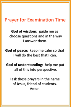 Prayer for Examination Time