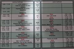 Junior & Leaving Cert Mocks Timetable 2019