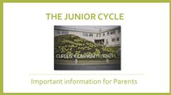 Junior Cycle Information for Parents
