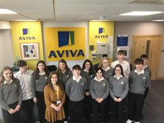 TY Visit to Aviva Galway as part of the Business in the Community Programme