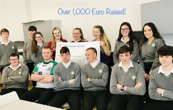 5th Year LCVP Class Raise over 1,000 euro for Charity